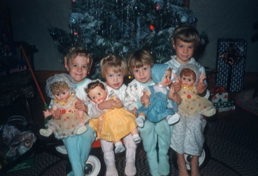 all four with dolls