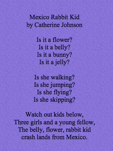 Catherine's poem wth background