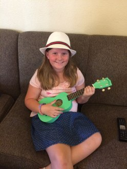 Gracie with ukelele