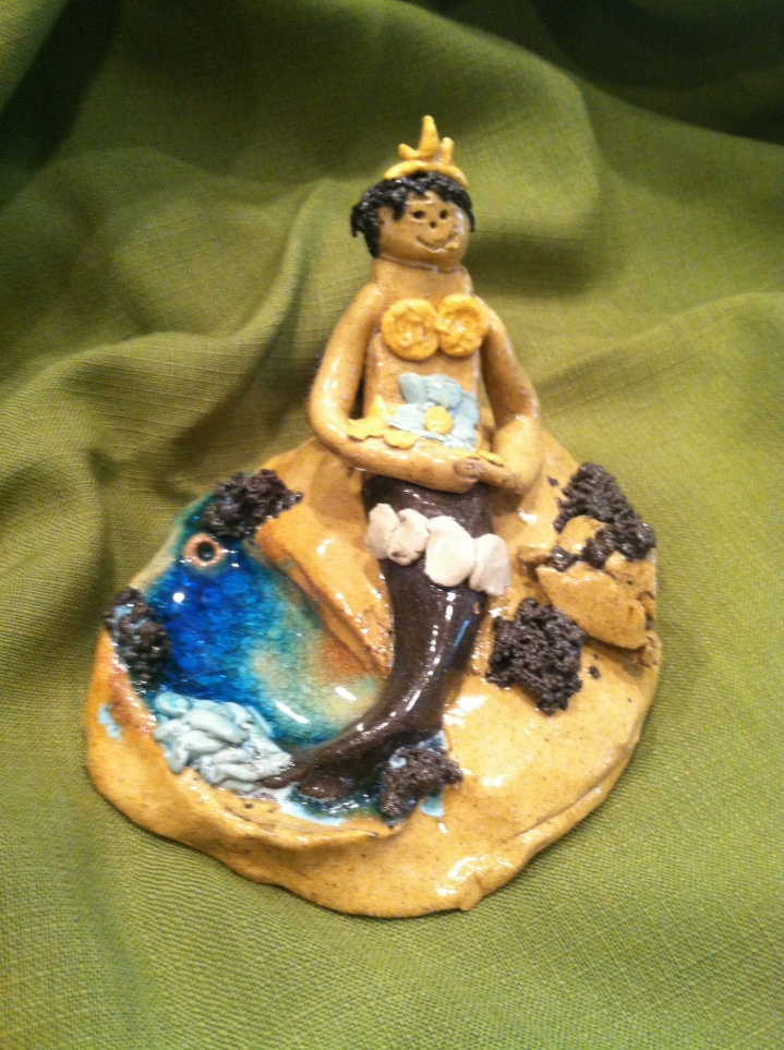 pottery mermaid
