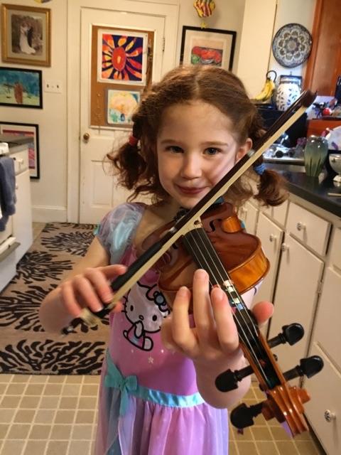 Anna and violin